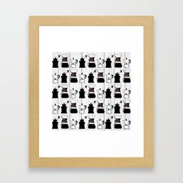 variety of classic, vintage, coffee,  grinder illustration Pattern print Framed Art Print