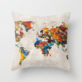 World Map 43 Throw Pillow