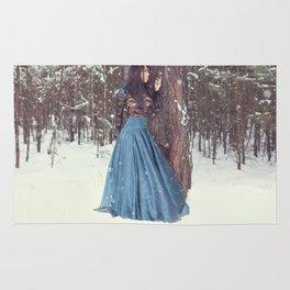 winter girl Rug