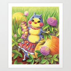 Mama Caterpillar Art Print