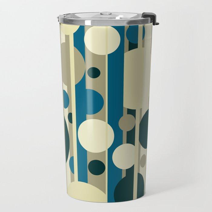 Stripes and circles color mode #5 Travel Mug