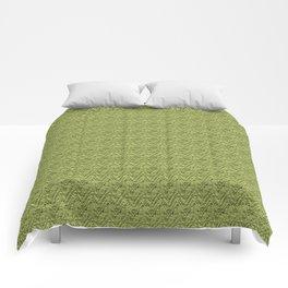 Green Zig-Zag Knit Comforters