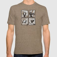Elements of Hip Hop Mens Fitted Tee Tri-Coffee LARGE