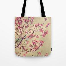 Vintage Pink Dogwood Tree in Flower Tote Bag