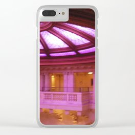 Pink light dome Clear iPhone Case