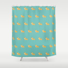 Corgi pattern Shower Curtain