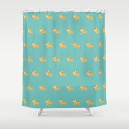 Corgi pattern Shower Curtain