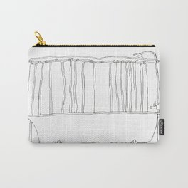 Bath In White Carry-All Pouch