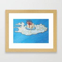 Island's tree Framed Art Print
