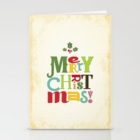 merry christmas Stationery Cards featuring Merry Christmas! by Noonday Design