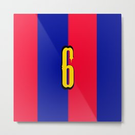 soccer team jersey number six Metal Print