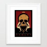 hamlet Framed Art Prints featuring Hamlet by Chris Whetzel