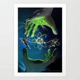 The Atom Control Art Print