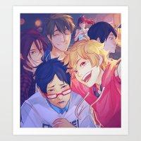 viria Art Prints featuring free selfie by viria