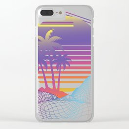 Vaporwave Gift design for Retro 80s Game Lovers Film Fans Clear iPhone Case