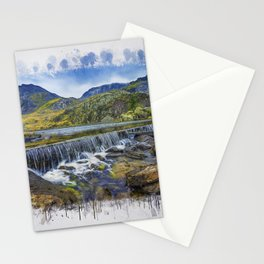 Snowdonia Tryfan Painting Stationery Cards