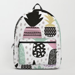Summer pineapples in pastel color pop Backpack