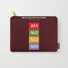 Milan metro map, Bob Noorda, Massimo Vignelli, subway alphabet map Carry-All Pouch