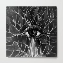 All Seeing Eye Tree Metal Print