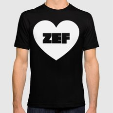 ZEF Heart Black MEDIUM Mens Fitted Tee