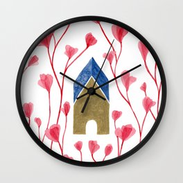 Golden House II Wall Clock