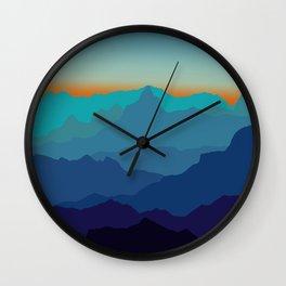 Blue Mountain Range Wall Clock