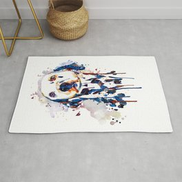 Dalmatian Head Watercolor Portrait Rug