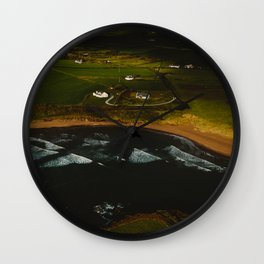 Dingle Cottages From Above Wall Clock
