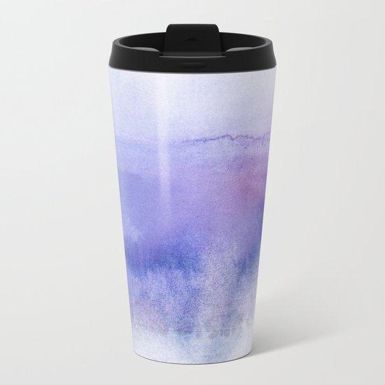 Subtle Horizon Metal Travel Mug