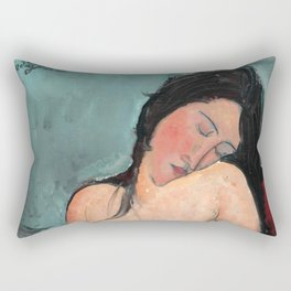 "Amedeo Modigliani ""Female nude (Iris Tree)"" Rectangular Pillow"