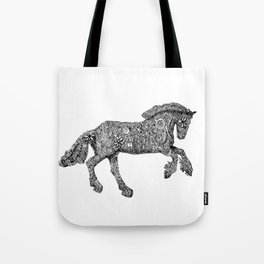Gypsy Horse Doodle Art Tote Bag