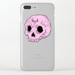 Witchy Skull Clear iPhone Case