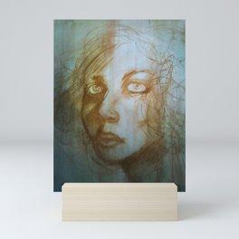 Charcoal Portrait (Magda) Mini Art Print