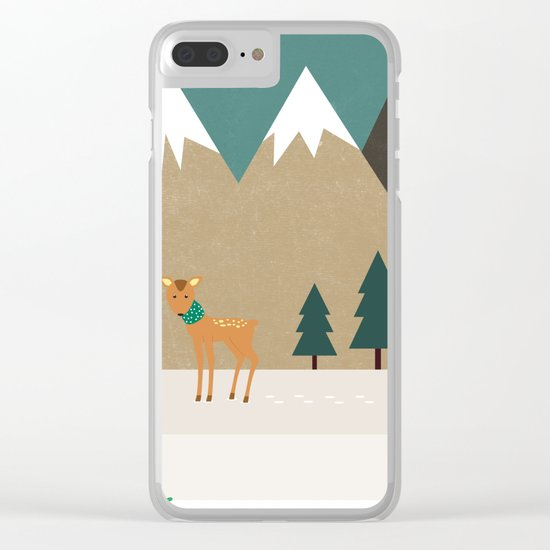 Hello winter Clear iPhone Case