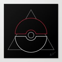 pokeball Canvas Prints featuring pokeball by Winter Graphics