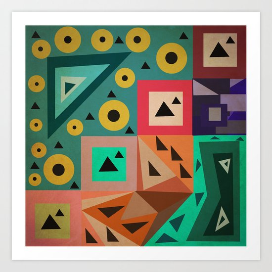 crazy triangles Art Print