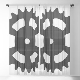 Cog and Roll Sheer Curtain