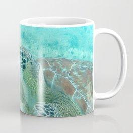 Watercolor Turtle, Green Turtle 35, St John, USVI Coffee Mug