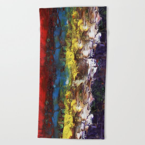 Abstract US Flag Beach Towel