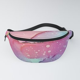 Abstract watercolor spill Fanny Pack