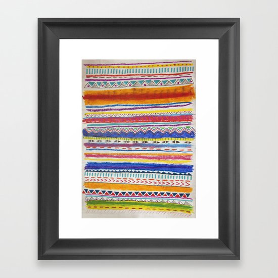 TRIBAL CRAYON / Framed Art Print
