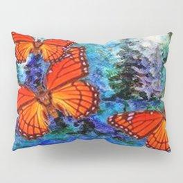 ORANGE MONARCH BUTTERFLIES FOREST MIGRATION Pillow Sham