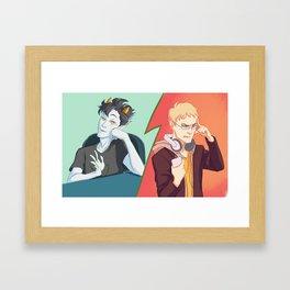 haikyuustuck 5 Framed Art Print