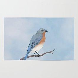 female eastern bluebird portrait Rug