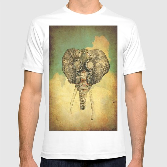 Gas mask for elephant T-shirt