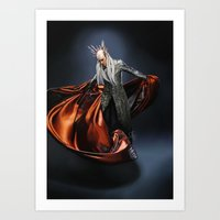 thranduil Art Prints featuring Thranduil by Dami's art