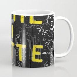 Black and White Yellow Bologna Street Photography Coffee Mug