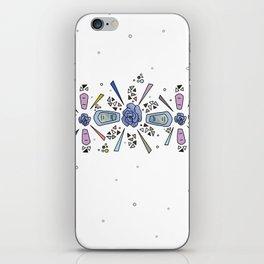 geometric flower crown iPhone Skin