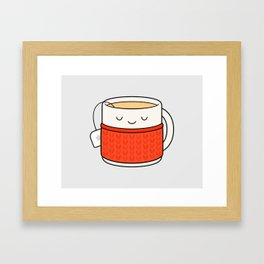 Keep warm, drink tea! Framed Art Print