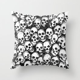 Catacomb Skulls Throw Pillow